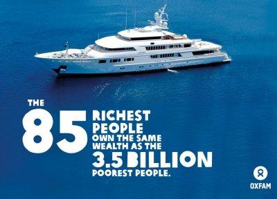 Состояние 85 человек сравнялось с богатством беднейшей половины мира