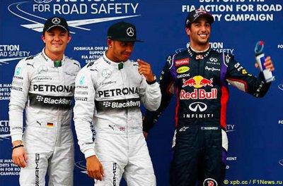 Итоги квалификации Гран-при Австралии 2014