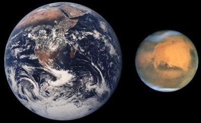 """9 Апреля Марс начинает своё очередное """"противостояние"""" с Землей."""