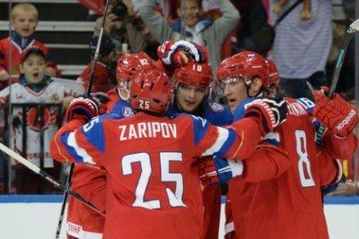 Сборная России гарантировала себе лидерство в группе на ЧМ по хоккею