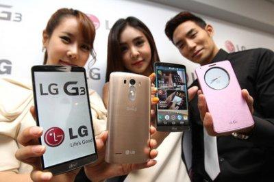 Смартфон G3 с рекордным разрешением экрана выйдет в России в июле