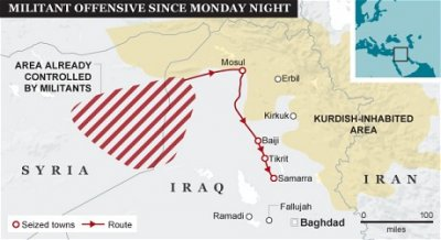 Боевики «Исламского государства Ирака и Леванта» идут на Багдад
