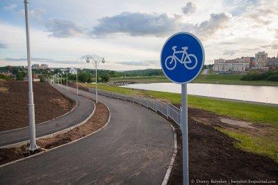 Новая велодорожка от залива к Дому правительства
