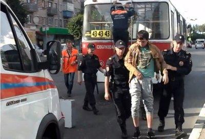 Карлсон», который заснул на крыше... троллейбуса, В Чебоксарах на улице Привокзальная