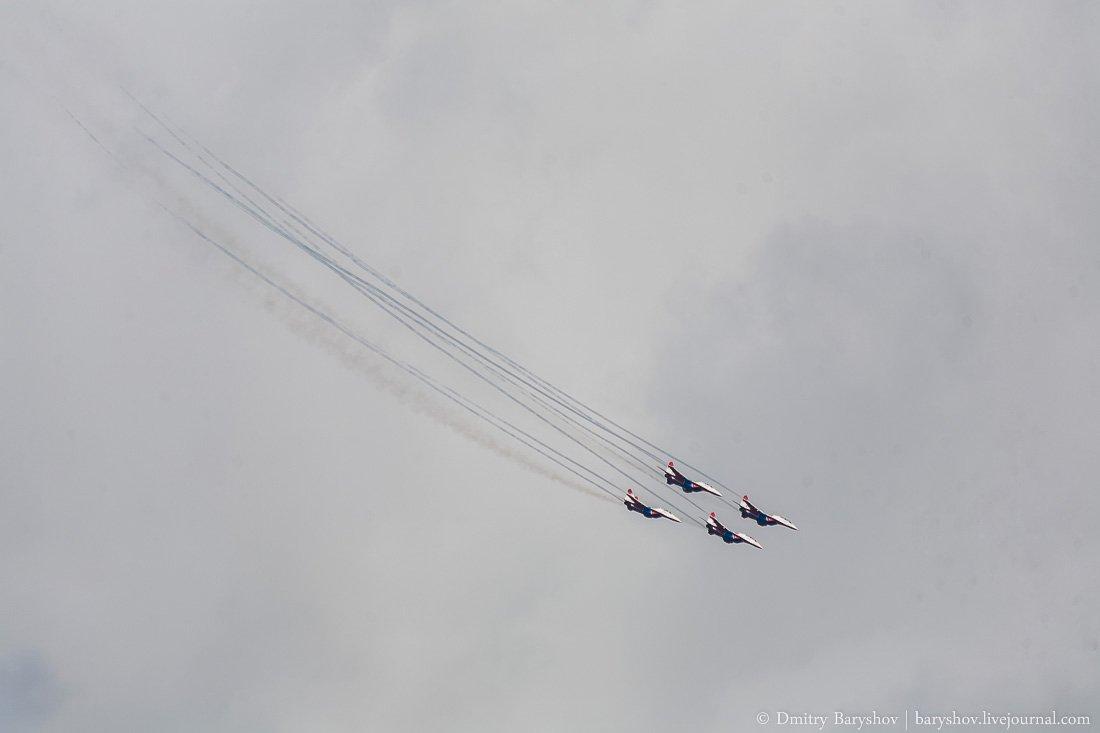 Выступление пилотажной группы Стрижи в Чебоксарах