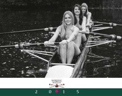Фотографии из календаря женской команды академической гребли университета Warwick (Англия)