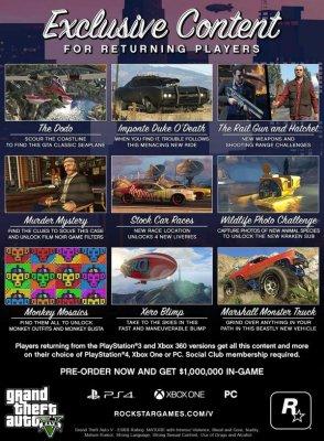 Подробности о новом контенте переиздания Grand Theft Auto V