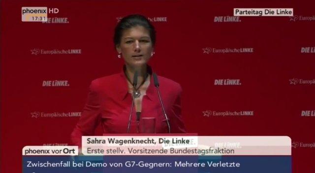 Сара Вагенкнехт о «большой» семёрке
