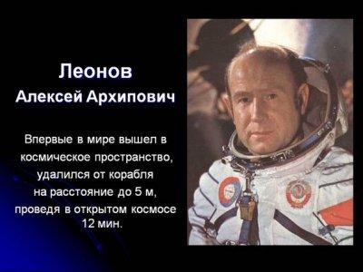 Впервые в истории человечества выбравшийся в открытый космос.