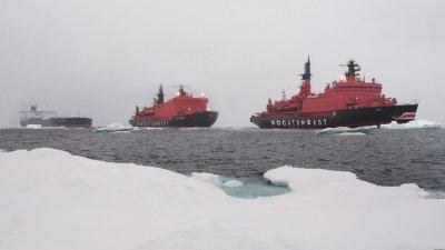 В 2016 году в два раза увеличилось число ледокольных проводок Росатомфлота в акватории Северного морского пути