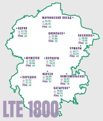 МегаФон разогнал скорость интернета 4G в райцентрах Чувашии до 84 Мбит/с