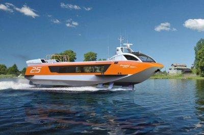 Спущено на воду первое российское скоростное судно нового поколения Валдай-45Р
