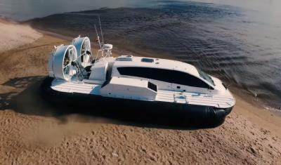 Современное российское судно на воздушной подушке Пардус