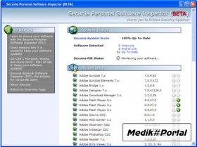 Secunia Personal Software Inspector 1.0.0.1
